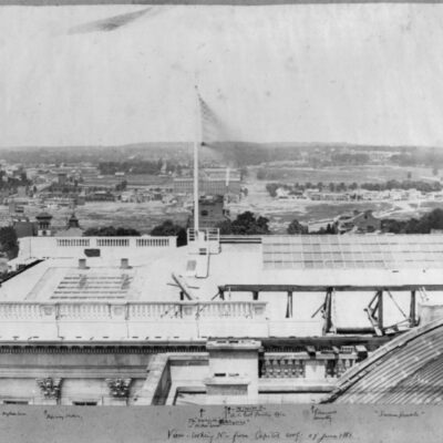 View of Swampoodle from Capitol Building in 1861