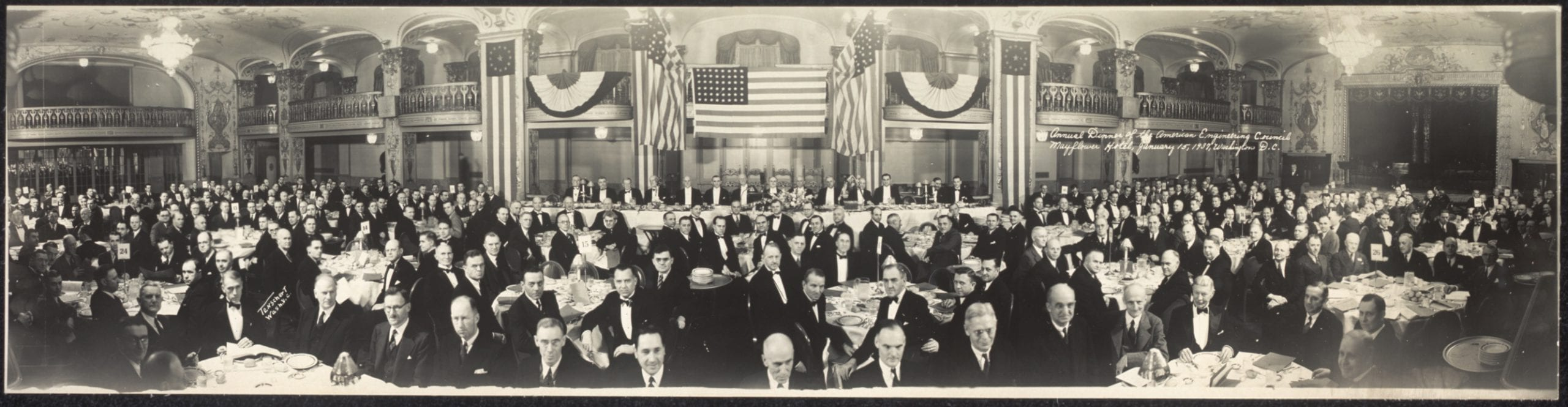 annual dinner of the American Engineering Council (1937)