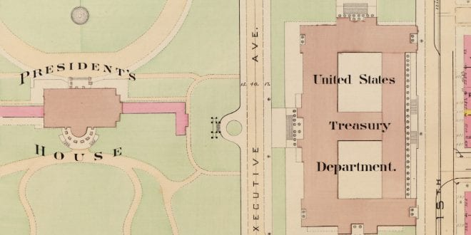 Two Detailed Maps of the White House in 1903