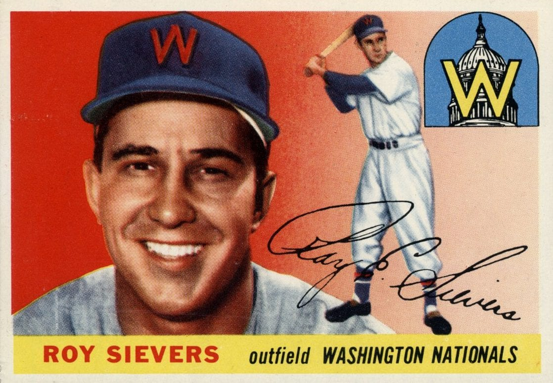 Roy Sievers 1955 Topps baseball card