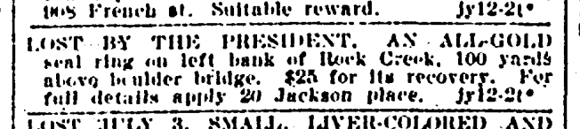 July 14th, 1902 classified ad