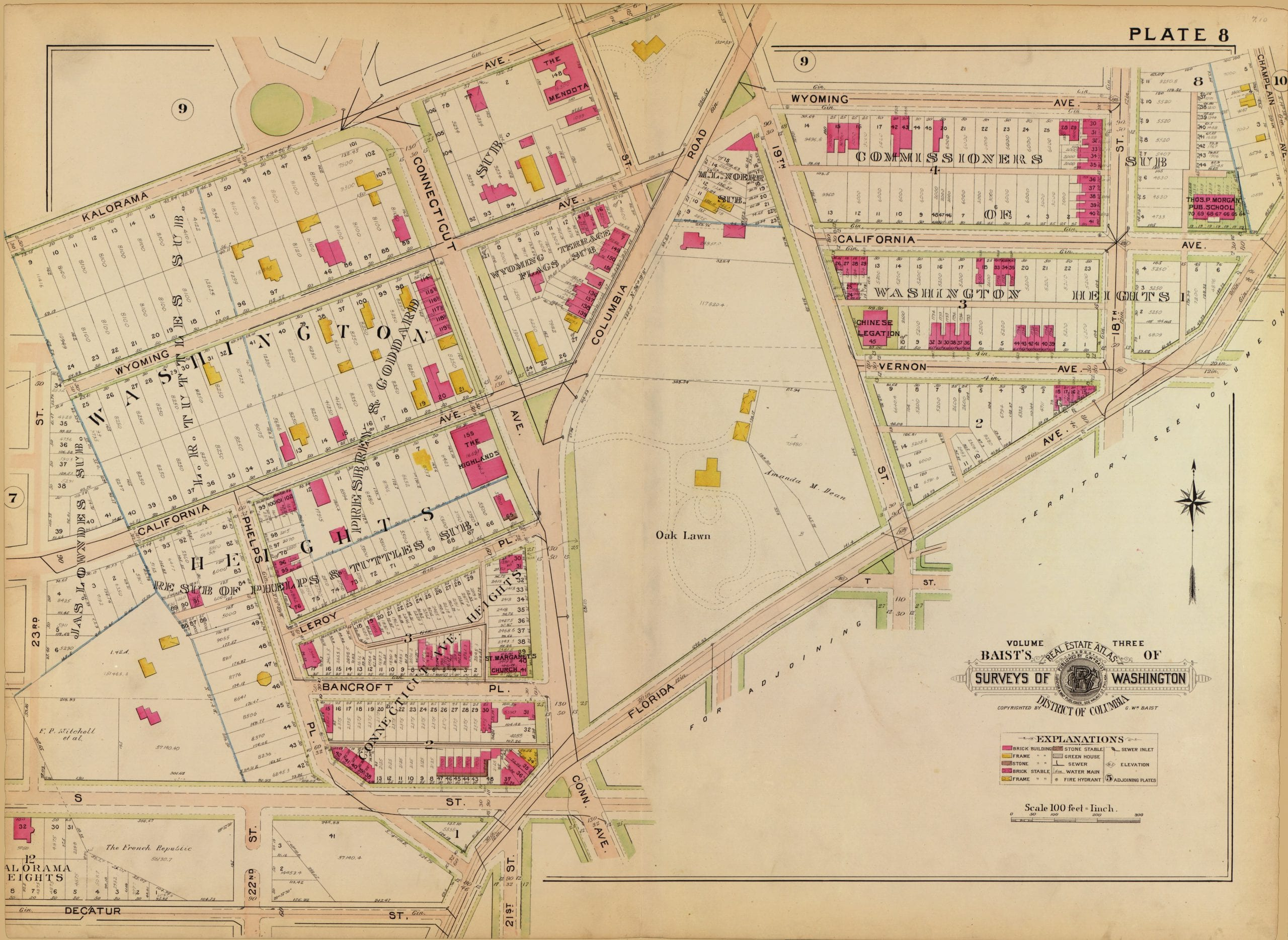 1903 Map of Kalorama and Washington Heights