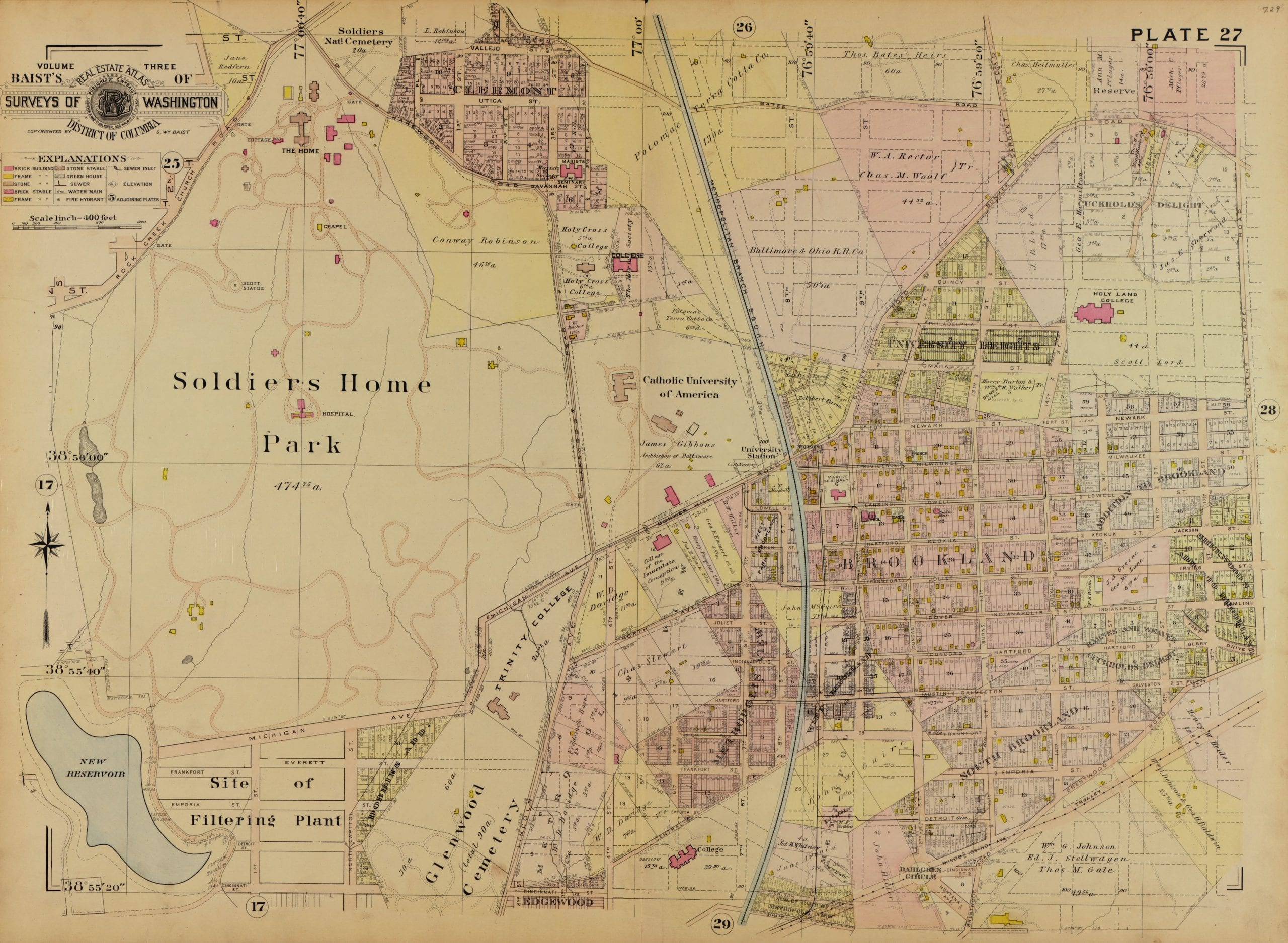 Map of Brookland in 1903