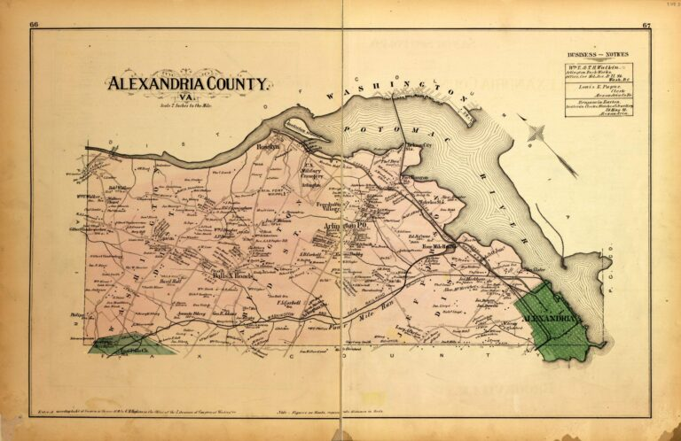 map of Alexandria County in 1879