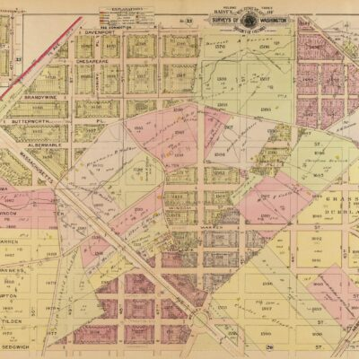 1903 Baist real estate map of Spring Valley and American University