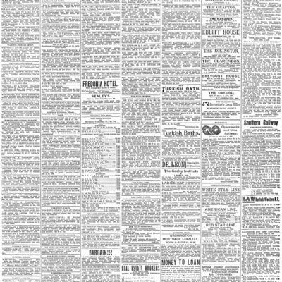 Washington Post classifieds - Saturday, October 5th, 1895