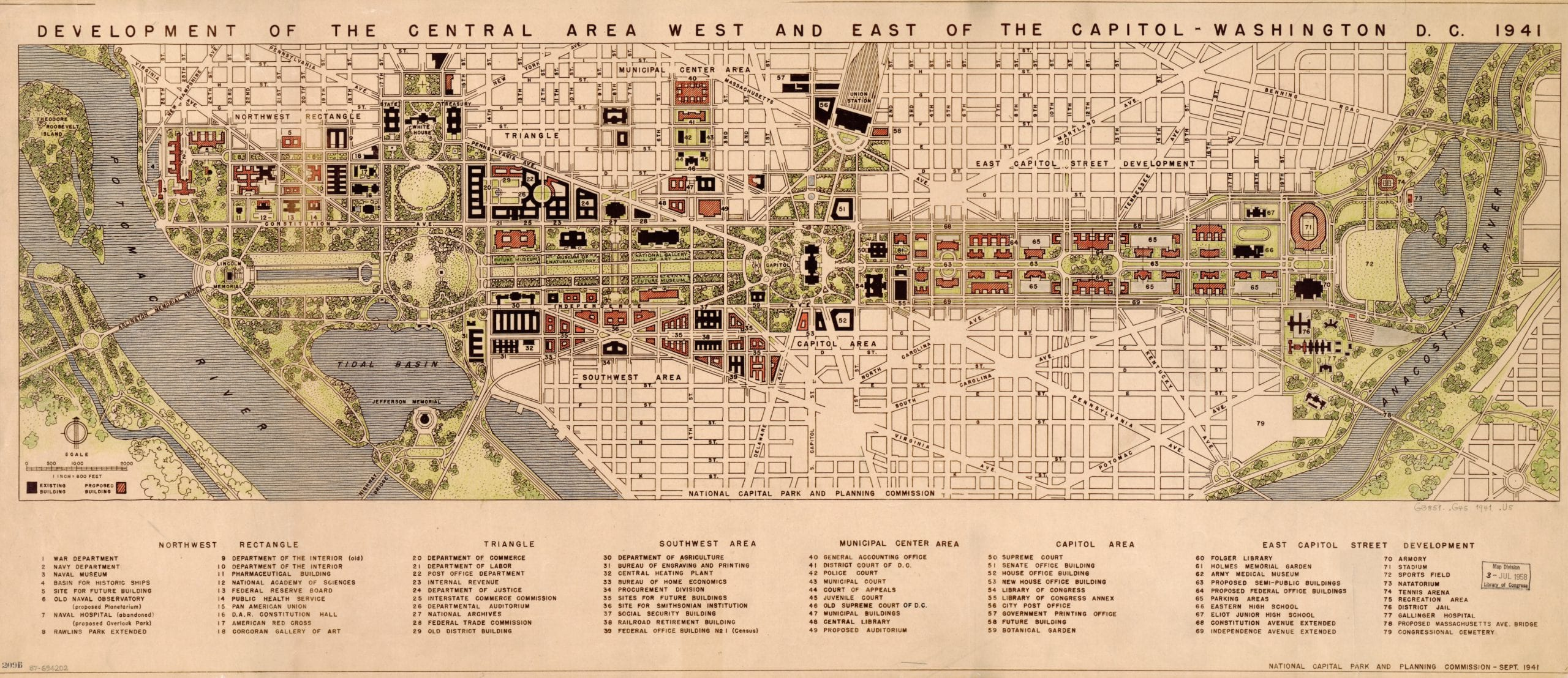 1941 Development Map of Washington