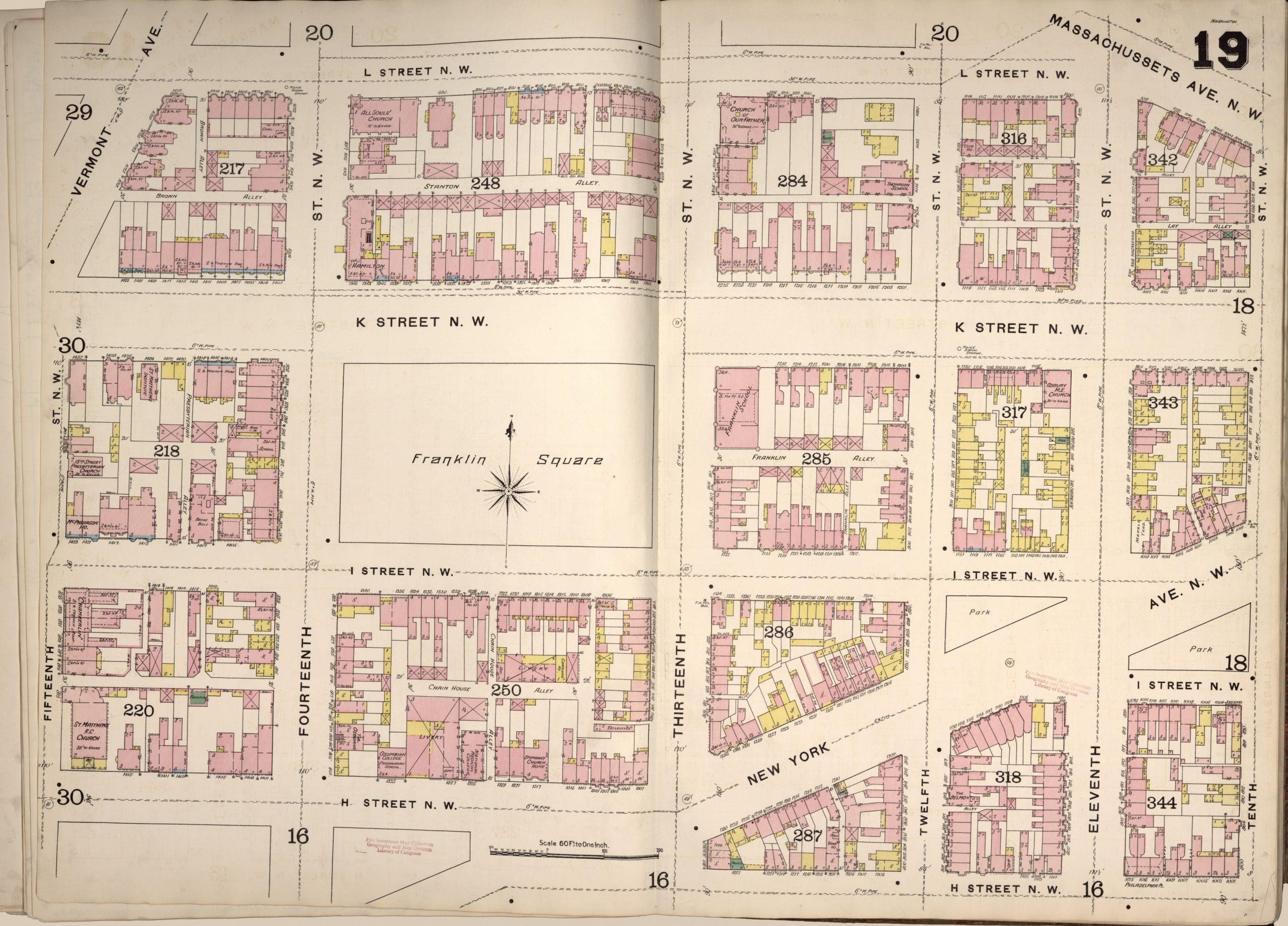 1888 map of Franklin Square