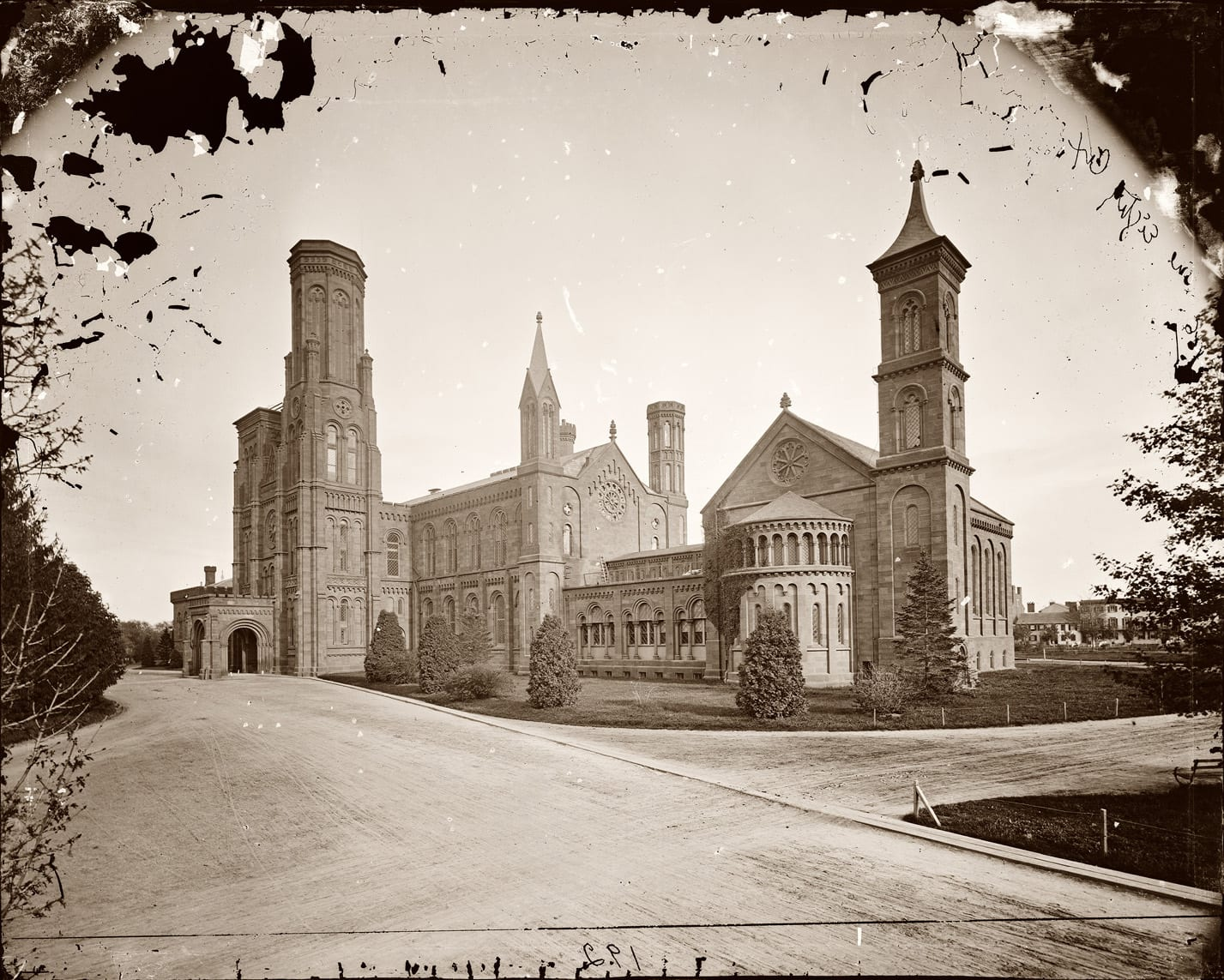 Smithsonian Castle between 1860 and 1865