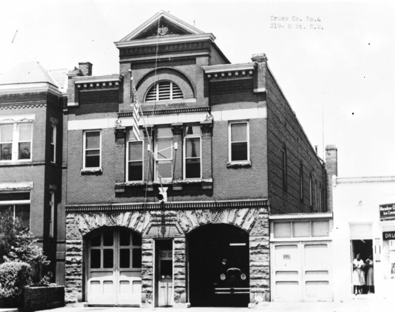 Truck Company Number Four, Firehouse, 219 M Street Northwest, Washington, District of Columbia, DC