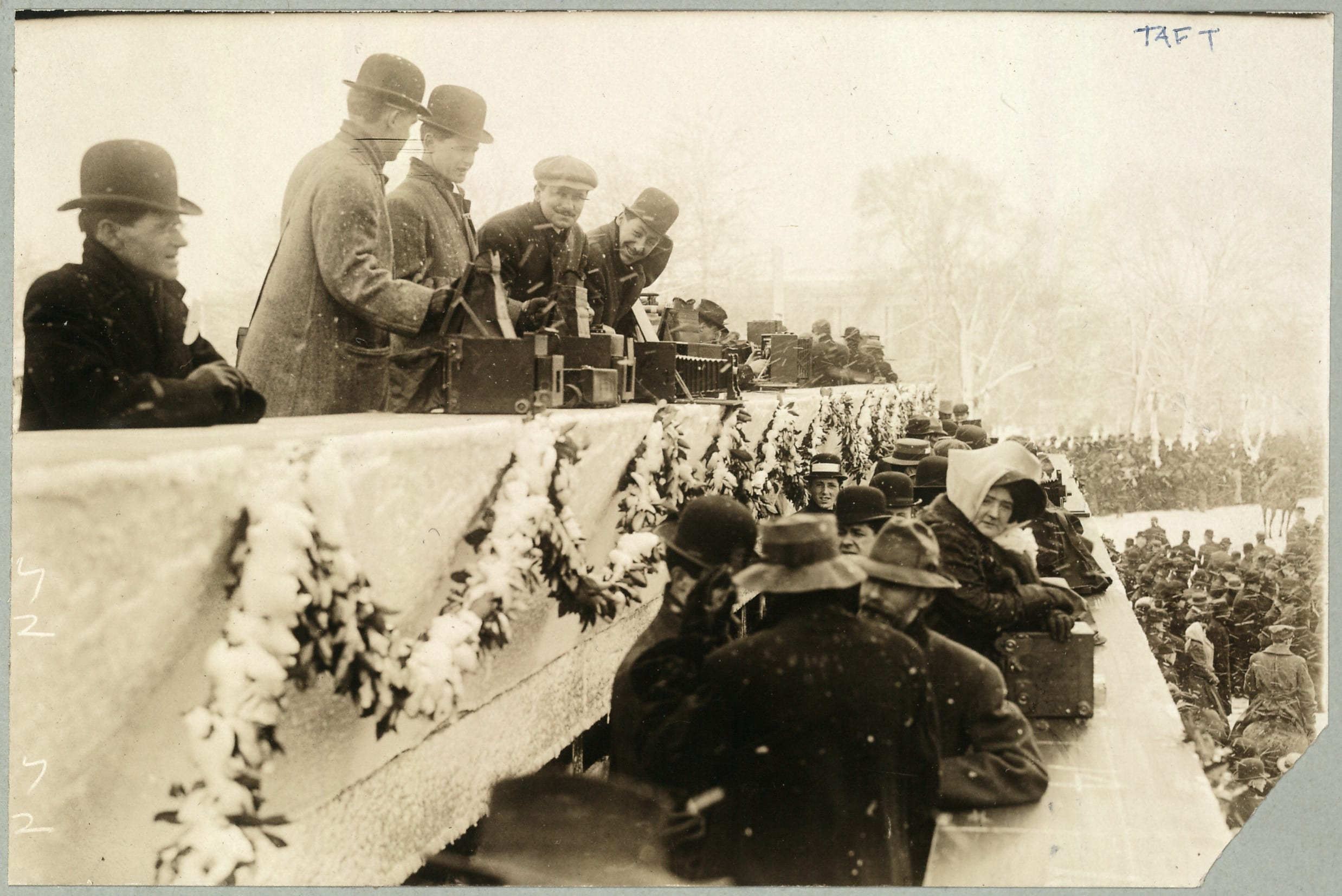 Photographers at President Taft's inauguration, March 4, 1909