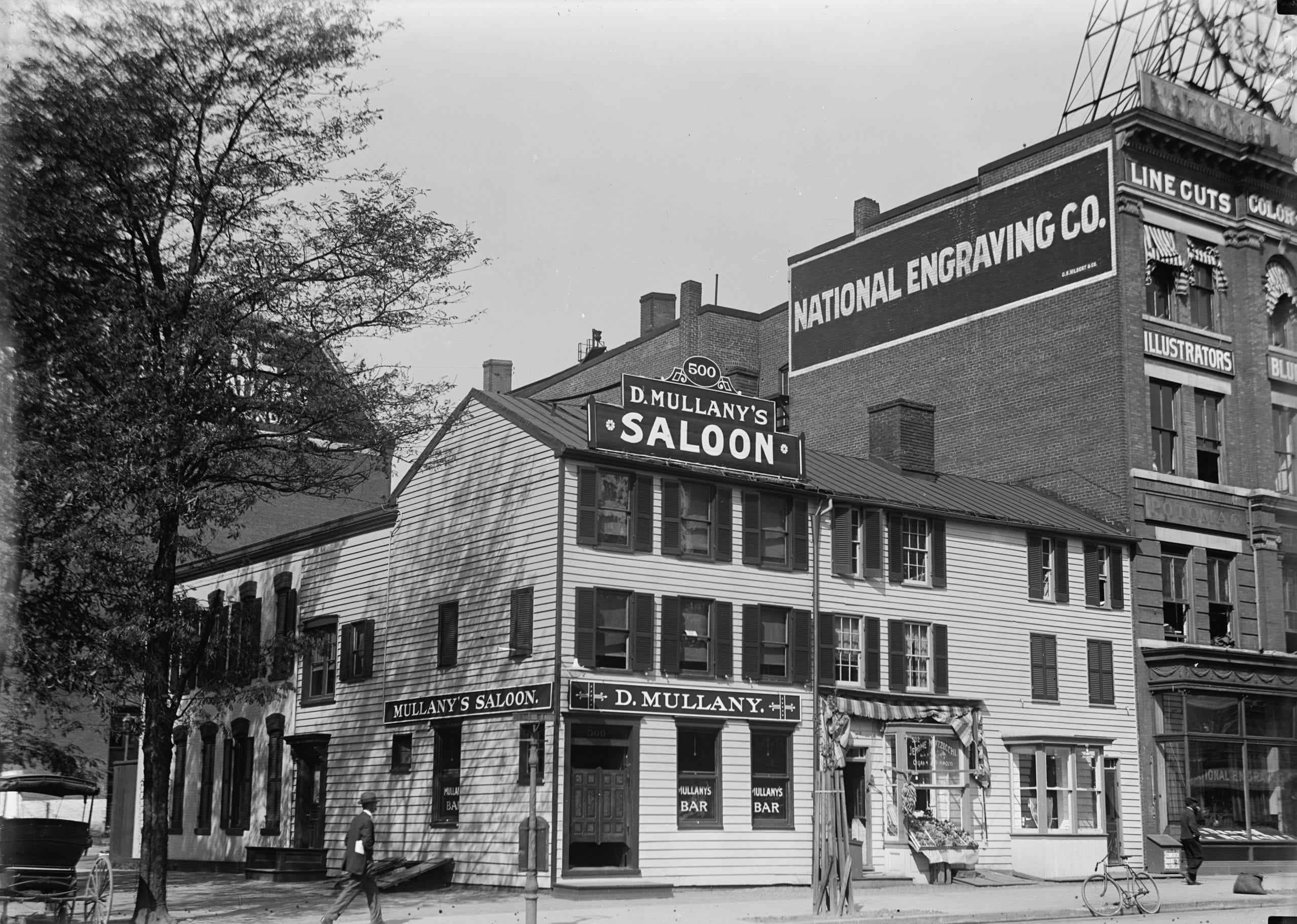 D. Mullany's Saloon at 14th and E St. NW in 1913