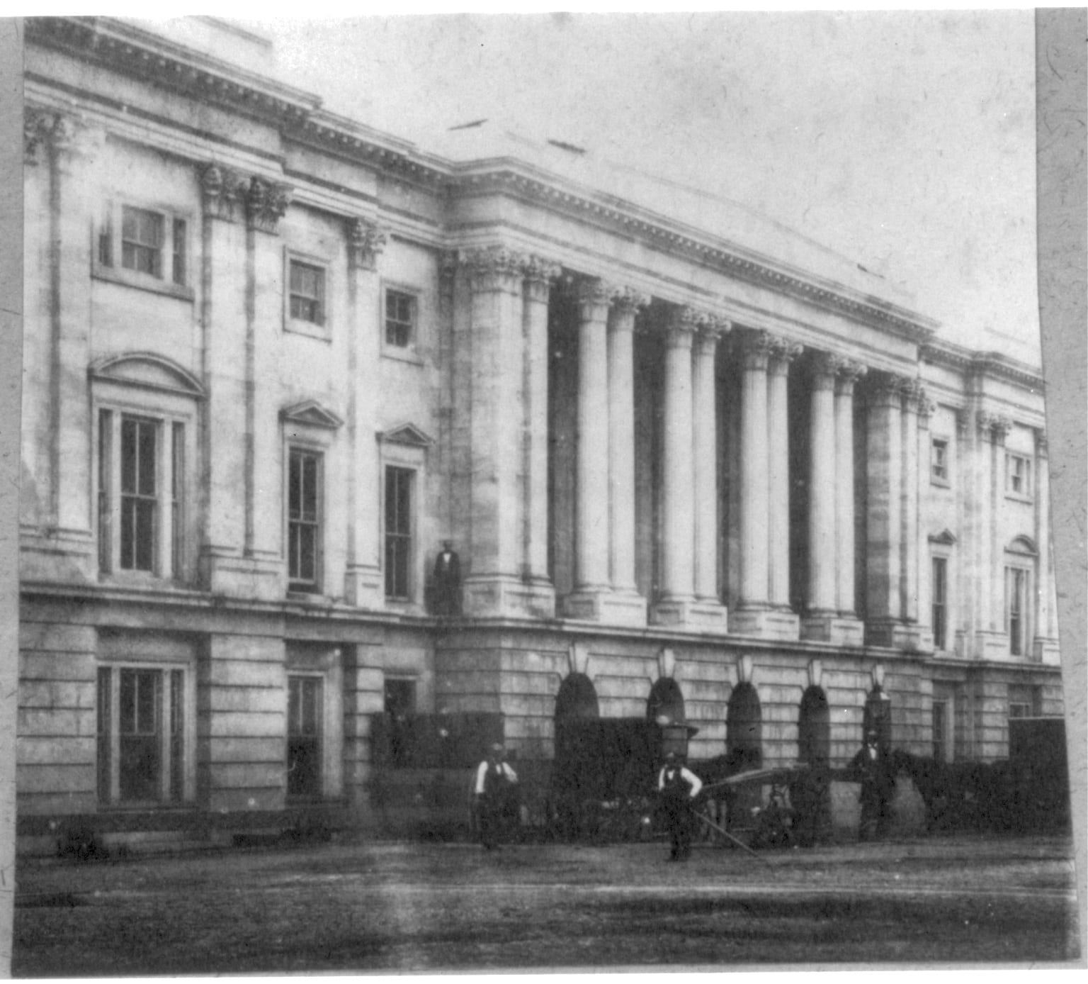 Photograph showing the General Post Office building in Washington, D.C. (1860-1878)