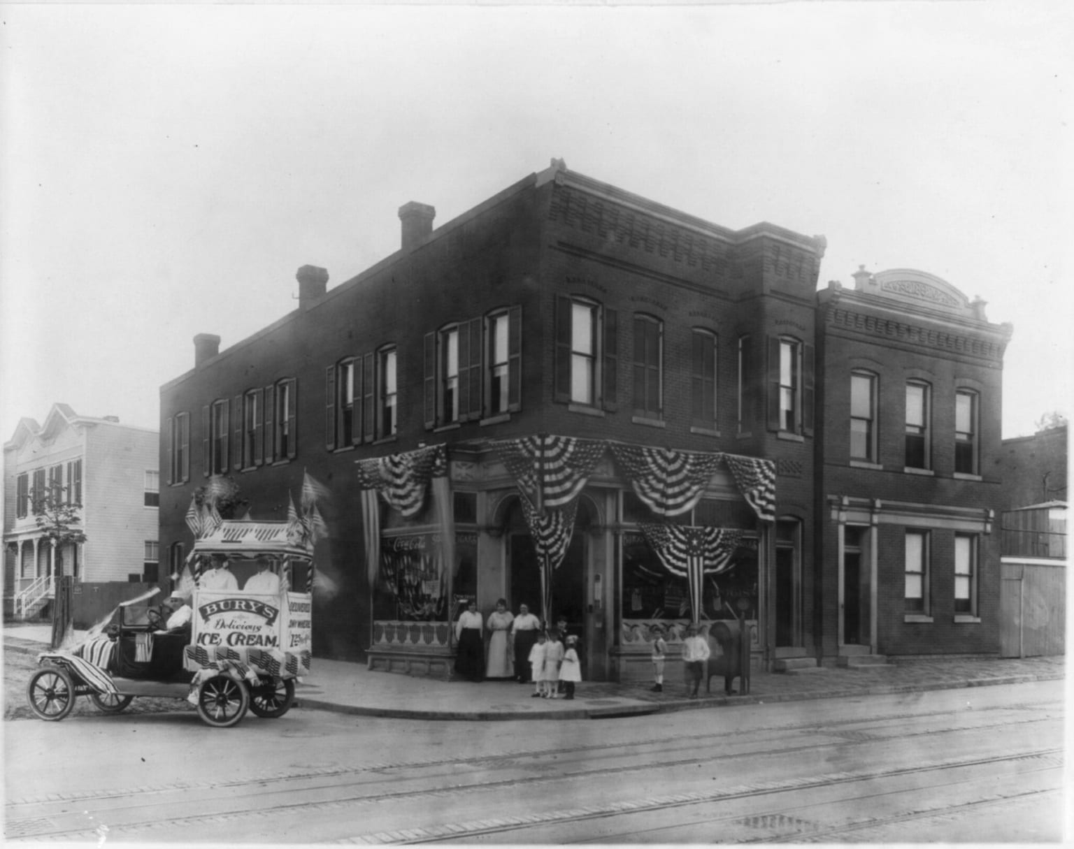 Bury's drug store around 1919