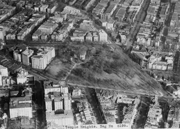 aerial view of Temple Heights in the early 1930s (Library of Congress)