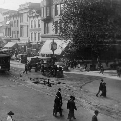 Amazing Street Scene at 11th and F in the 1910s