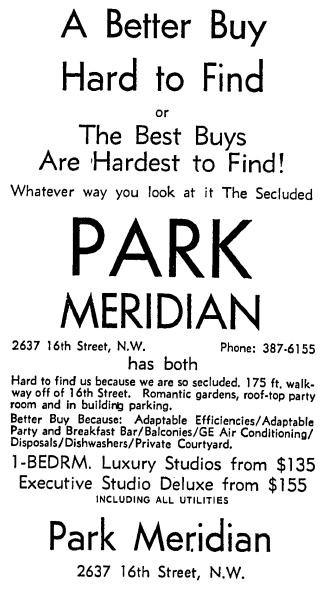 Park Meridian advertisement - May 30th, 1966