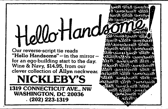 Nickleby's - 1983 ad