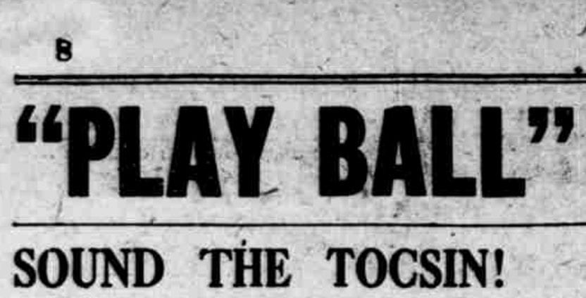 Opening Day 1913 ... Play Ball!