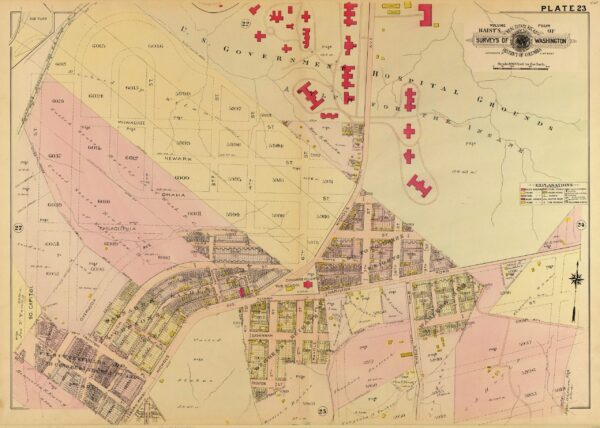 1907 map of Congress Heights