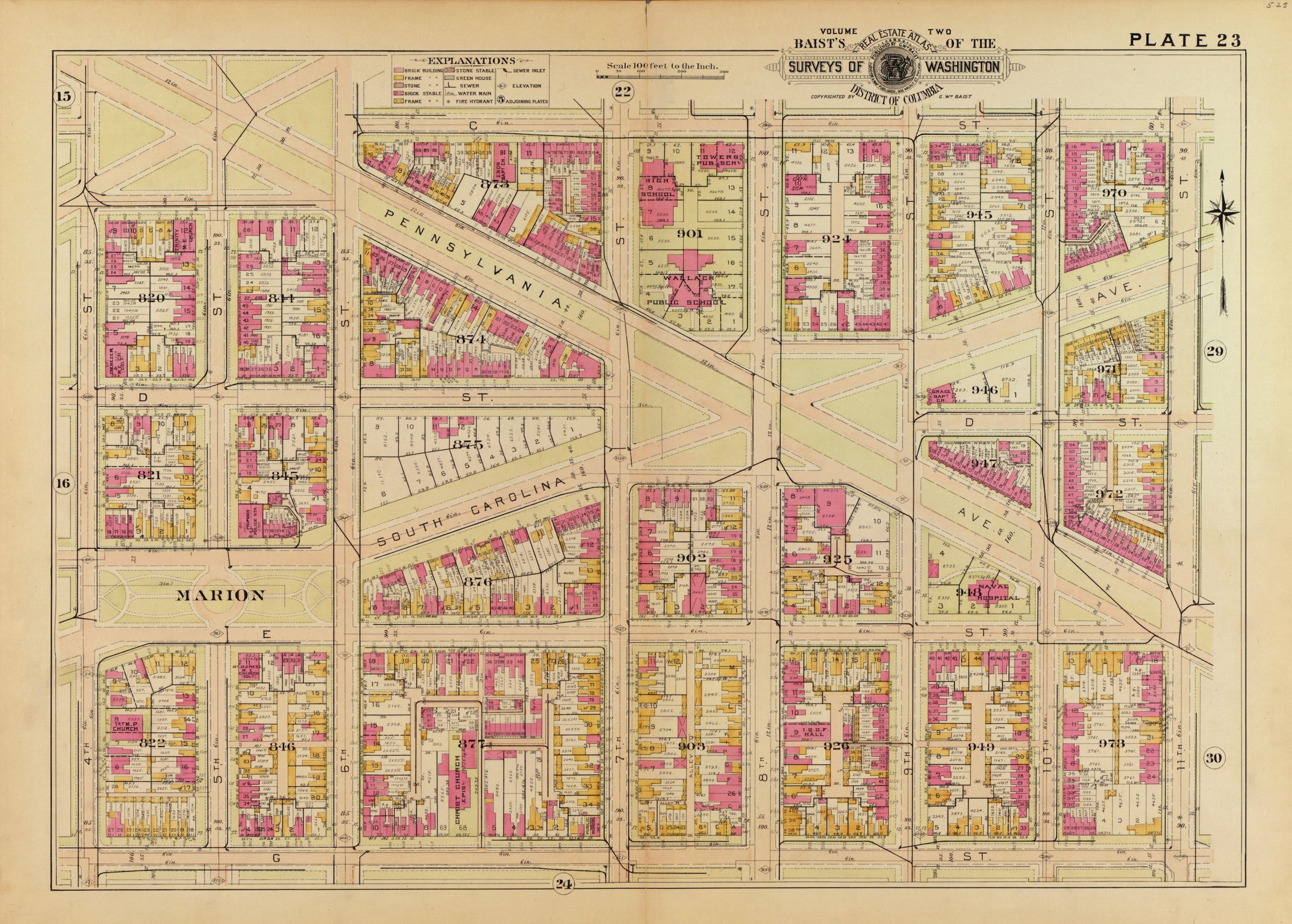 1903 map of Eastern Market