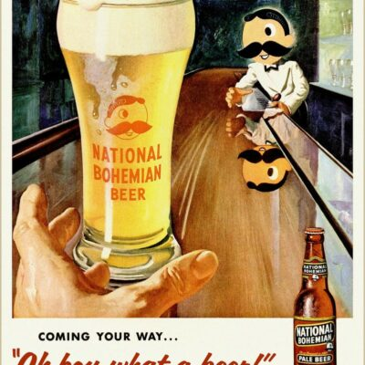 National Bohemian advertisement from 1955