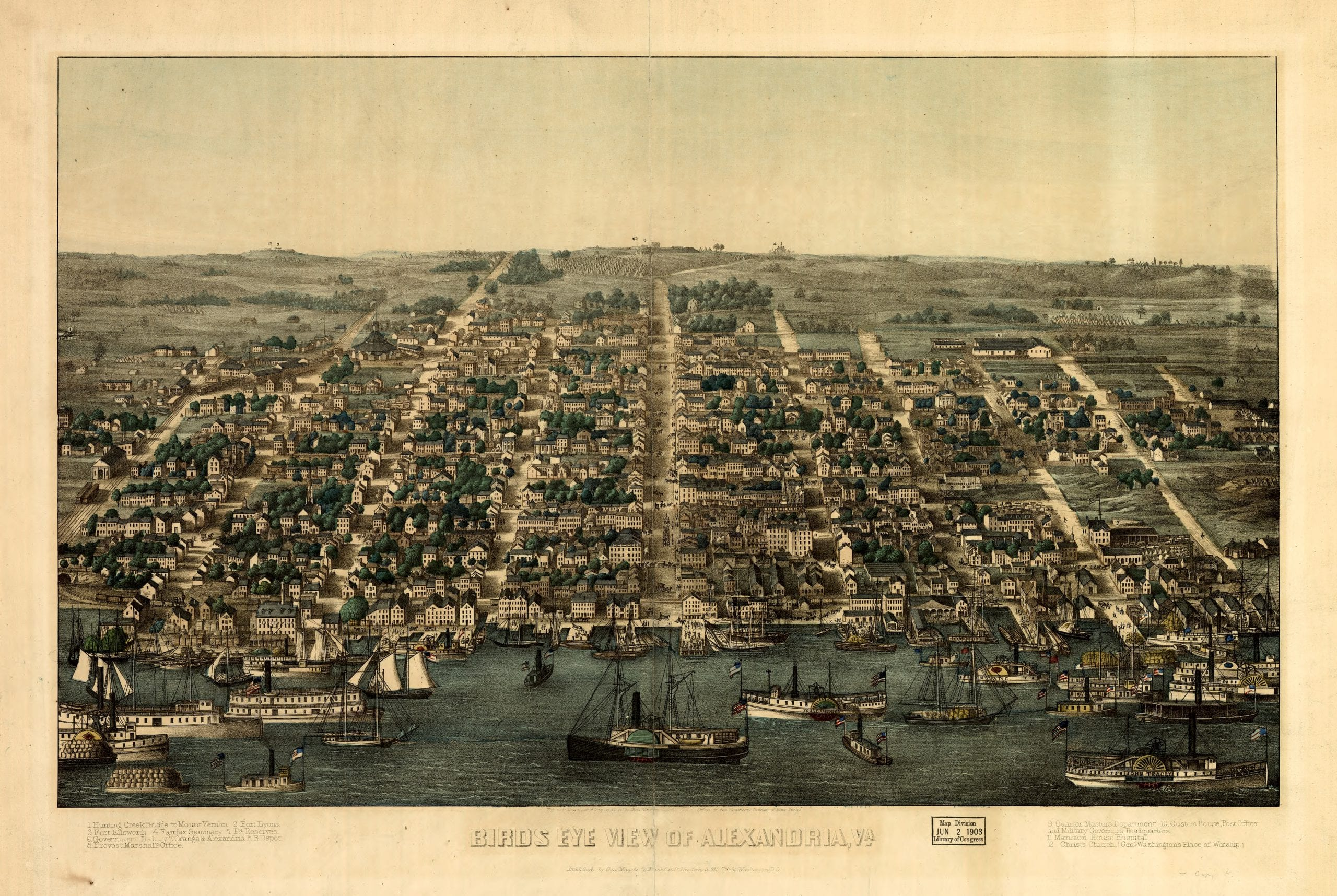 1863 view of Alexandria