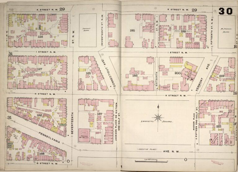1888 map of Lafayette Square