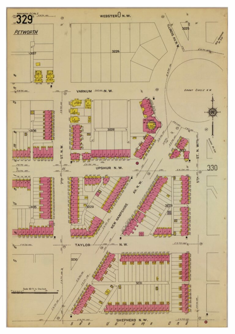 map of Grant Circle in 1916