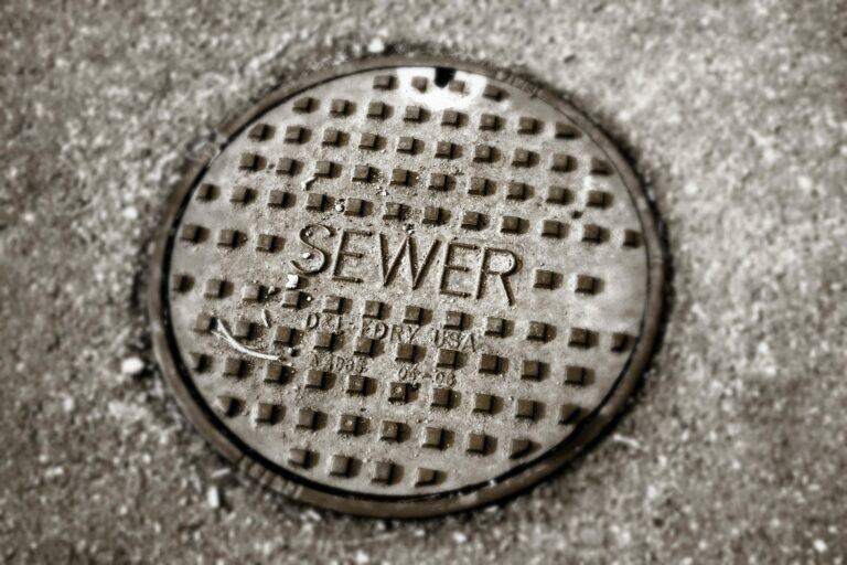 a non-exploded manhole cover