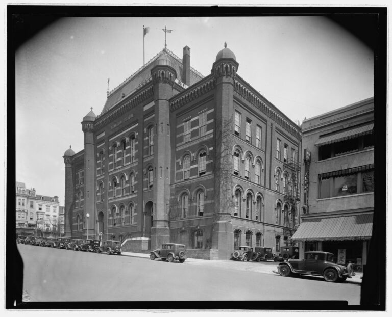 view of the Franklin School in the 1920s