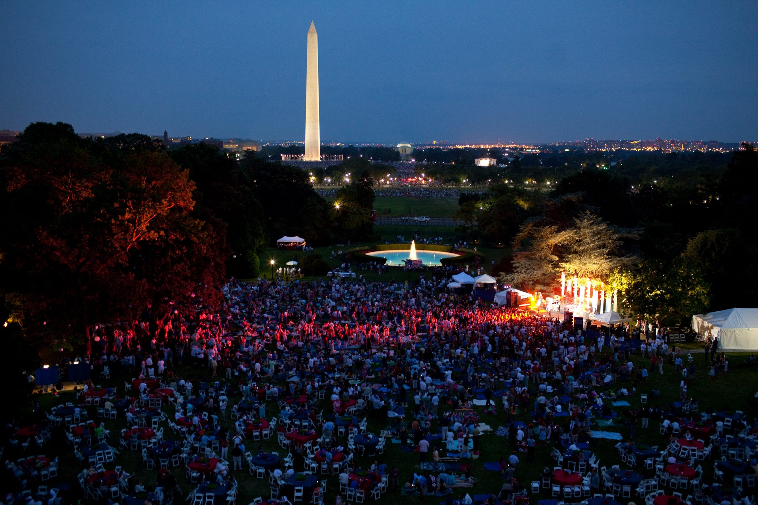 The view of the South Lawn of the White House as the Foo Fighters performed on July 4, 2009. (Official White House photo by Pete Souza)