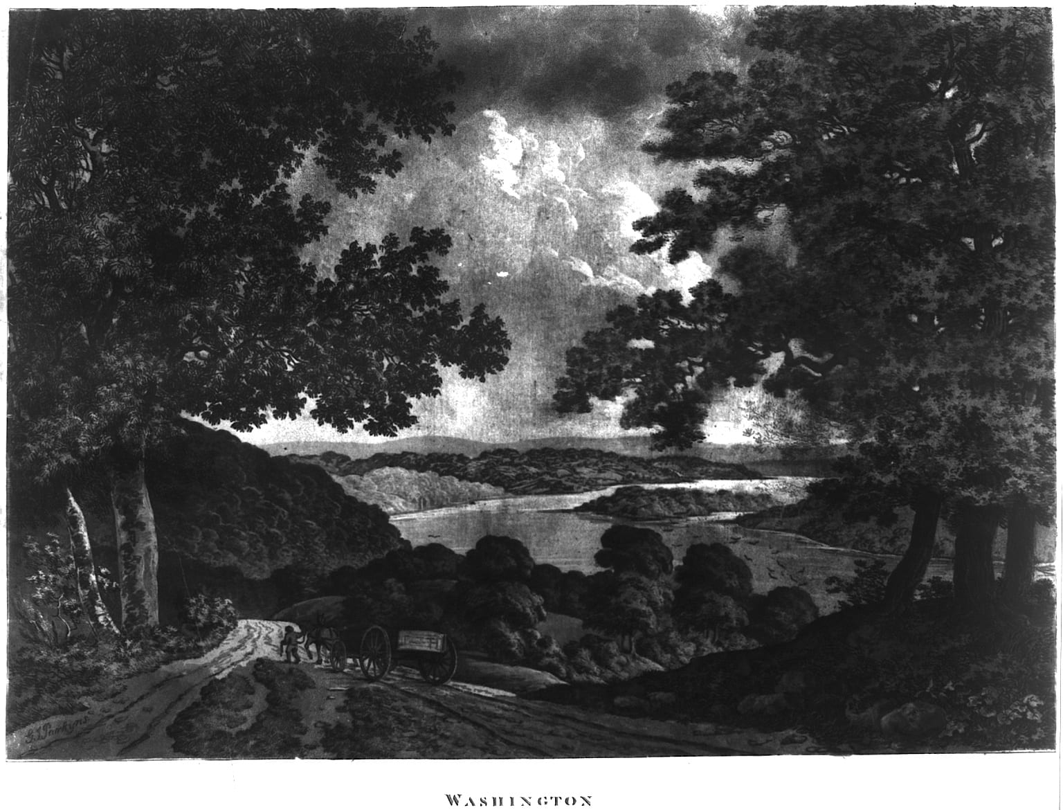 view of the Potomac River in the 1790s