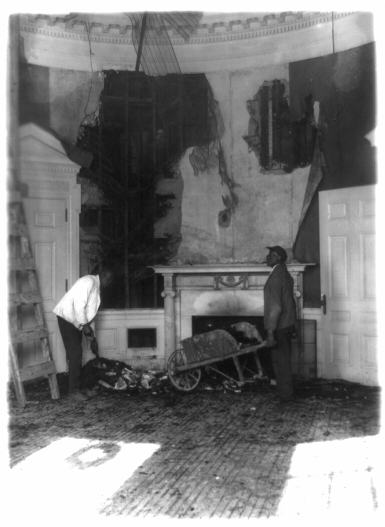 aftermath of the 1929 White House fire