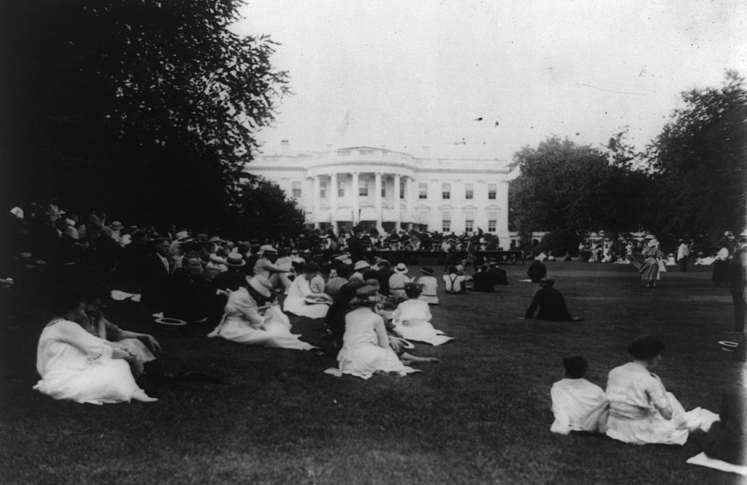 concert on the South Lawn in 1921