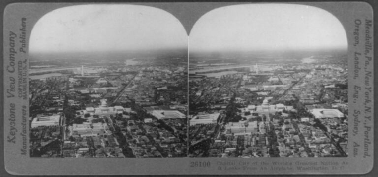 Washington, DC from the air in 1924