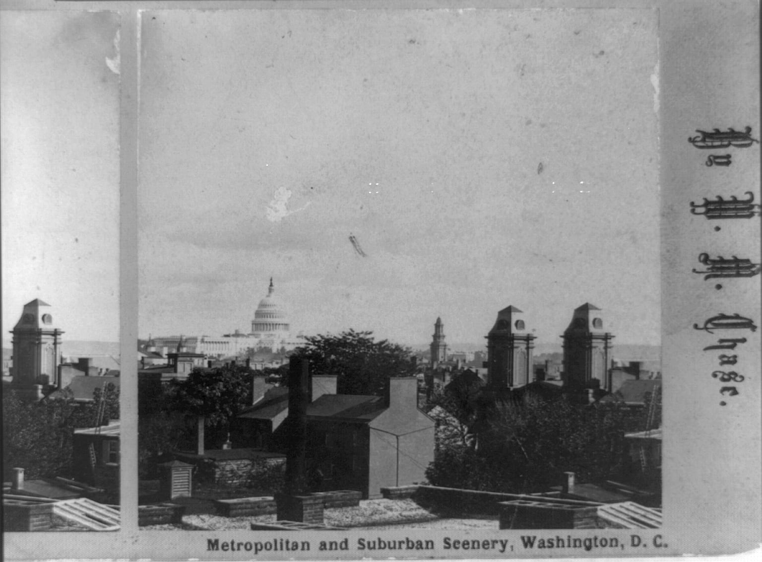 view of the Capitol Building in 1888