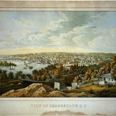 View of Georgetown, D.C. in the 1850s