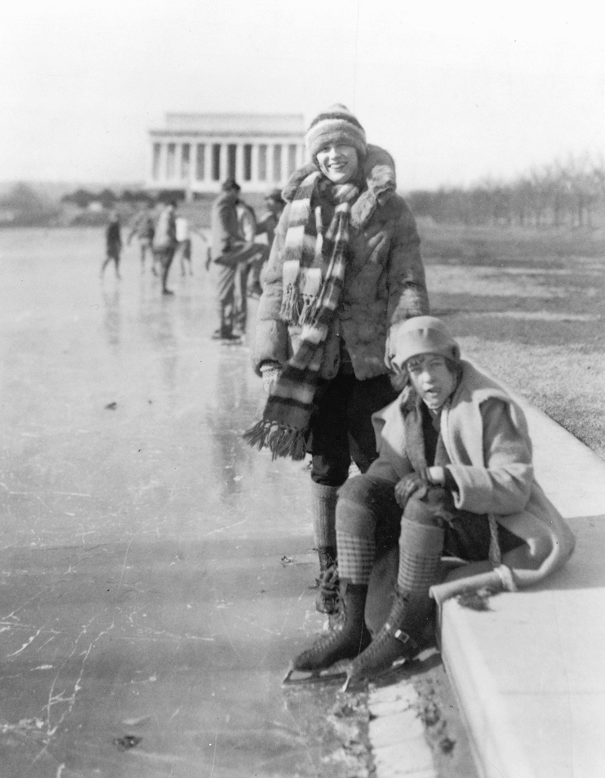 Ice Skating on the Reflecting Pool