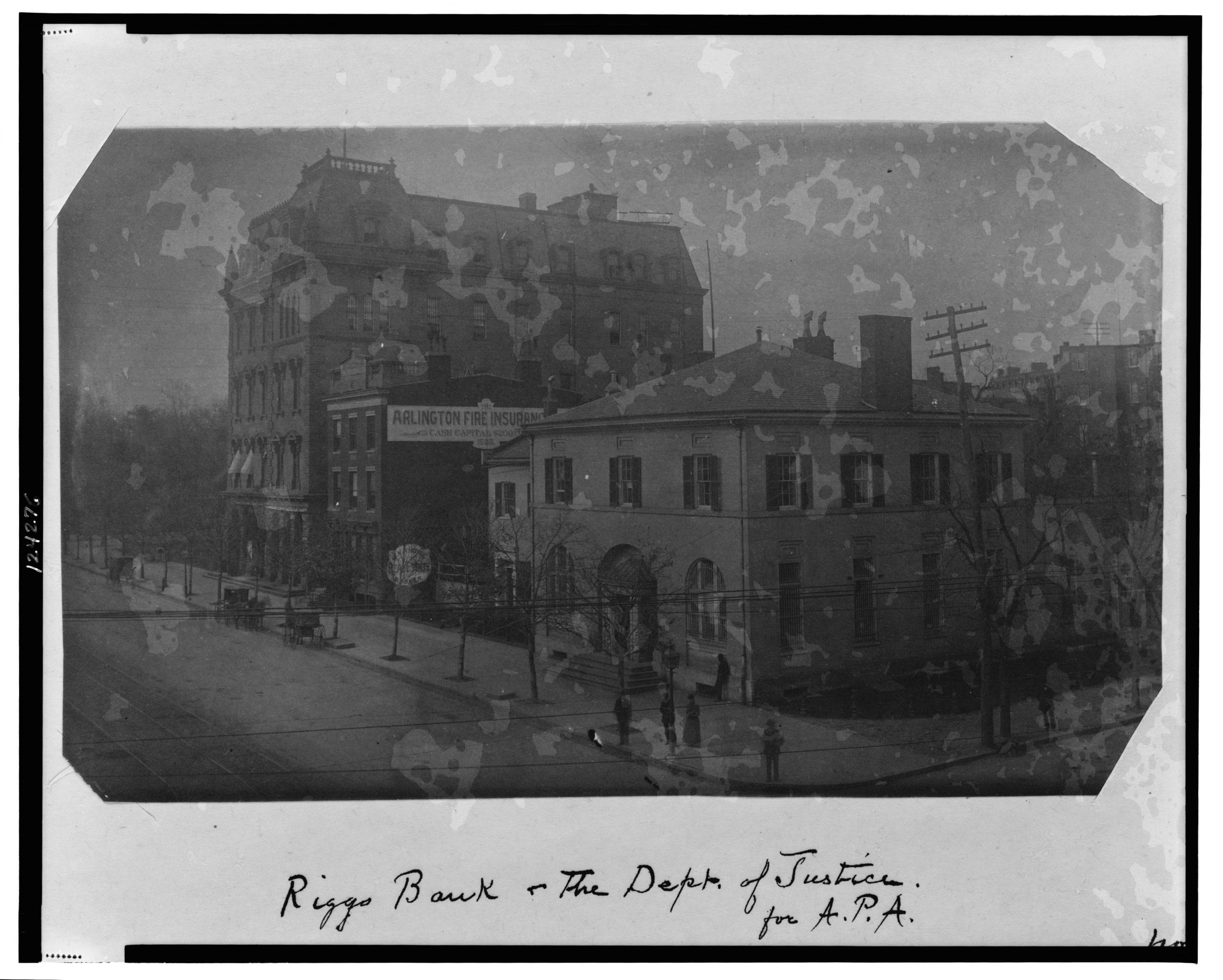 Riggs Bank Photo Dated November 14th, 1888