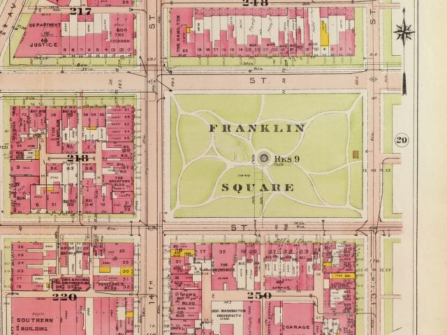 Franklin Square map in 1919