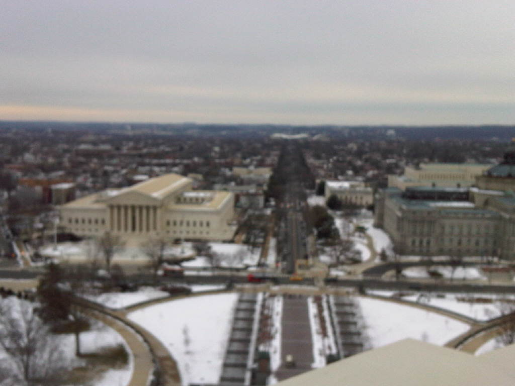 view down East Capitol from the Dome