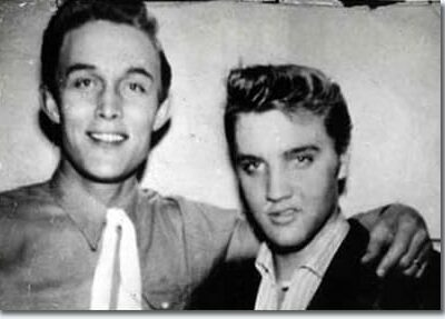 Jimmy Dean and Elvis Presley, March 23, 1956