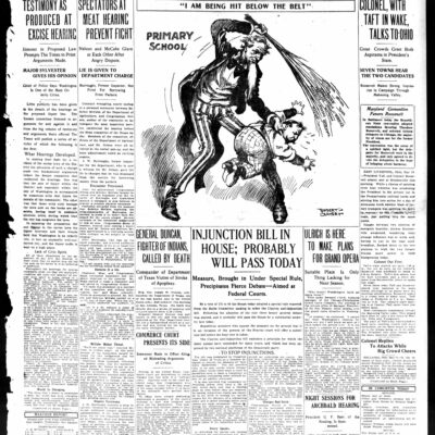 front page of the Washington Times - May 14th, 1912