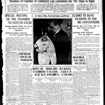 front page of the Washington Times - May 16th, 1912