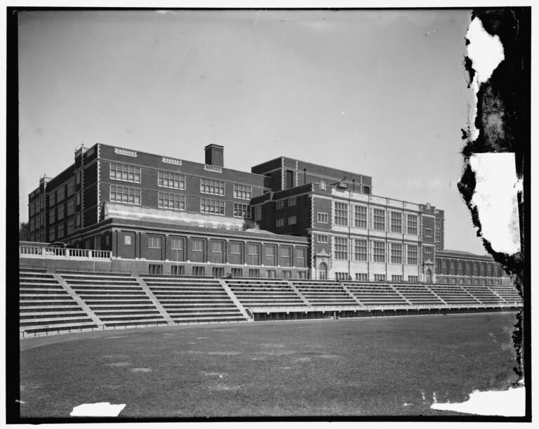 Central High School stadium in the 1910s
