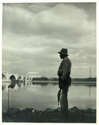 This landscape image features the Lincoln Memorial and Washington Monument in Washington, D.C., two of the capital's most recognizable landmarks (date unknown)
