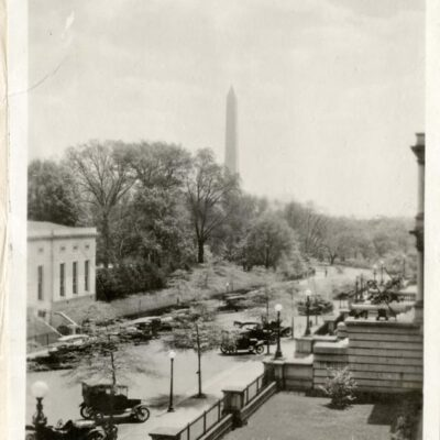 West Executive Ave. and the Washington Monument (1919)