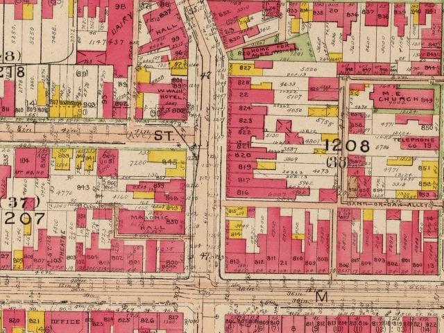 Wisconsin Ave. 1919 (Baist)