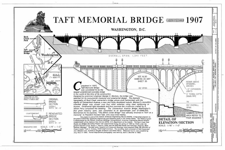 isometrical view of Taft Memorial Bridge